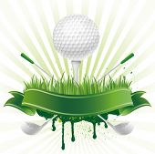 Vektor-Golf-Sport-Design-element