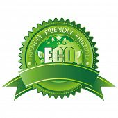 vector green eco-friendly icon