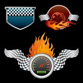 design element for motor racing