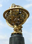 Golden Globe Outdoor Sculpture