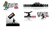 404 Page not found. Error illustrations ready for web site.