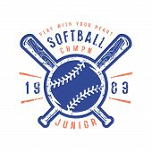 Emblem Of Softball Junior Team poster
