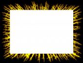 stock photo of lightning bolt  - Lightning frame - JPG