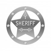 Sheriff abstract badge. Isolated