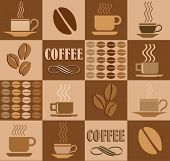 Vector coffee related square illustration