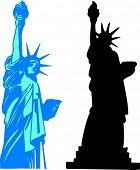 Vector Liberty statue