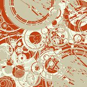 Abstract retro color circles background