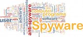 Background concept wordcloud illustration of spyware