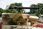 picture of mg  - Heavy machine gun on an armored fighting vehicle - JPG