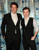 LOS ANGELES - JAN 05:  Cory Monteith, Chris Colfer