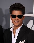 LOS ANGELES - FEB 13:  Bruno Mars arrives at the 2011 Grammy Awards  on February 13, 2011 in Los Angeles, CA