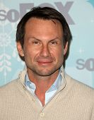 PASADENA, CA - JAN 11:  Christian Slater arrives at the FOX All-Star Party  on January 11, 2011 in P