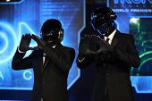 LOS ANGELES - DEC 11:  Daft Punk arrives to the 'Tron: Legacy' World Premiere  on December 11, 2010