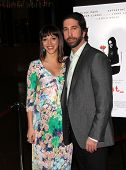Los Angeles mar 21: David Schwimmer & Zoe Buckman dem