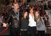 LOS ANGELES - MAY 07:  Harry Hamlin, Lisa Rinna & Kids arrives to the