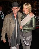 LOS ANGELES - MAY 07:  Keith Richards & Wife arrives to the