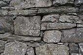 Texture of old masonry. Foundation of a house made of stone. Traditional natural material in constru poster