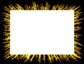 picture of lightning bolt  - Lightning frame - JPG