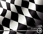 Vector Racing Flag