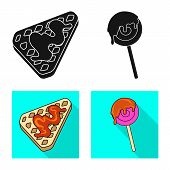 Vector Design Of Confectionery And Culinary Logo. Set Of Confectionery And Product Stock Symbol For  poster