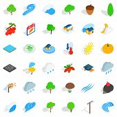 Beautiful Land Icons Set. Isometric Set Of 36 Beautiful Land Icons For Web Isolated On White Backgro poster