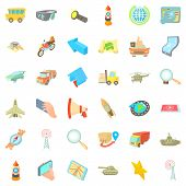 City Navigation Icons Set. Cartoon Set Of 36 City Navigation Icons For Web Isolated On White Backgro poster