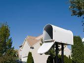 Mailbox With Blue Sky
