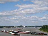 Mississippi River Barges