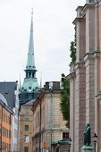 View Down A Typical Stockholm Street