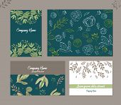 Wedding Invite, Invitation Menu Thank You Card Vector Floral Greenery Design: Forest Fern Frond, Bra poster