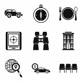 Expedition Icons Set. Simple Set Of 9 Expedition Icons For Web Isolated On White Background poster
