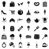 Production Of Confectionery Icons Set. Simple Set Of 36 Production Of Confectionery Icons For Web Is poster