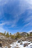 picture of scoria  - Sunset Crater in winter - JPG