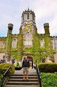Student in The Quadrangle, Galway, Ireland