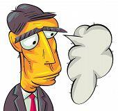 Serious businessman thinking