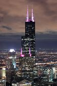 CHICAGO, IL - OCT 6: Willis tower close up on October 6, 2011 in Chicago, Illinois. Willis Tower kno