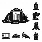 Vector Design Of Fauna And Entertainment Symbol. Collection Of Fauna And Park Vector Icon For Stock. poster