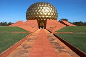 Golden Cupola Of Temple In Auroville, India