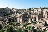 Guzelyurt village and the city underground in Cappadocia, Turkey