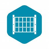 Yard Fence Icon. Simple Illustration Of Yard Fence Vector Icon For Web poster