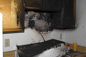 stock photo of seer  - kitchen fire damage - JPG