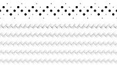 Geometrical Repeating Abstract Dotted Pattern Page Divider Line Set poster