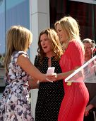 LOS ANGELES - FEB 22:  Jennifer Aniston; Kathryn Hahn; Malin Akerman at the Jennifer Aniston Hollywood Walk of Fame Star Ceremony at the W Hollywood on February 22, 2012 in Los Angeles, CA.