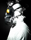 picture of s10  - portrait of man with gas mask - JPG