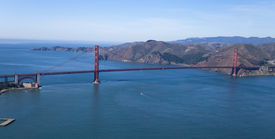 picture of golden gate bridge  - The Golden Gate Bridge in San Francisco bay Aerial view - JPG