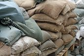 Brown And Green Sandbags