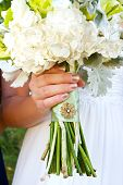 Wedding Bouquet And Brooch