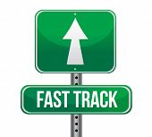 Roadsign With A Fast Track Concept
