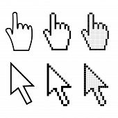 Hand And Arrow Mouse Cursors