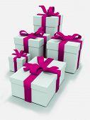 White Presents Boxes